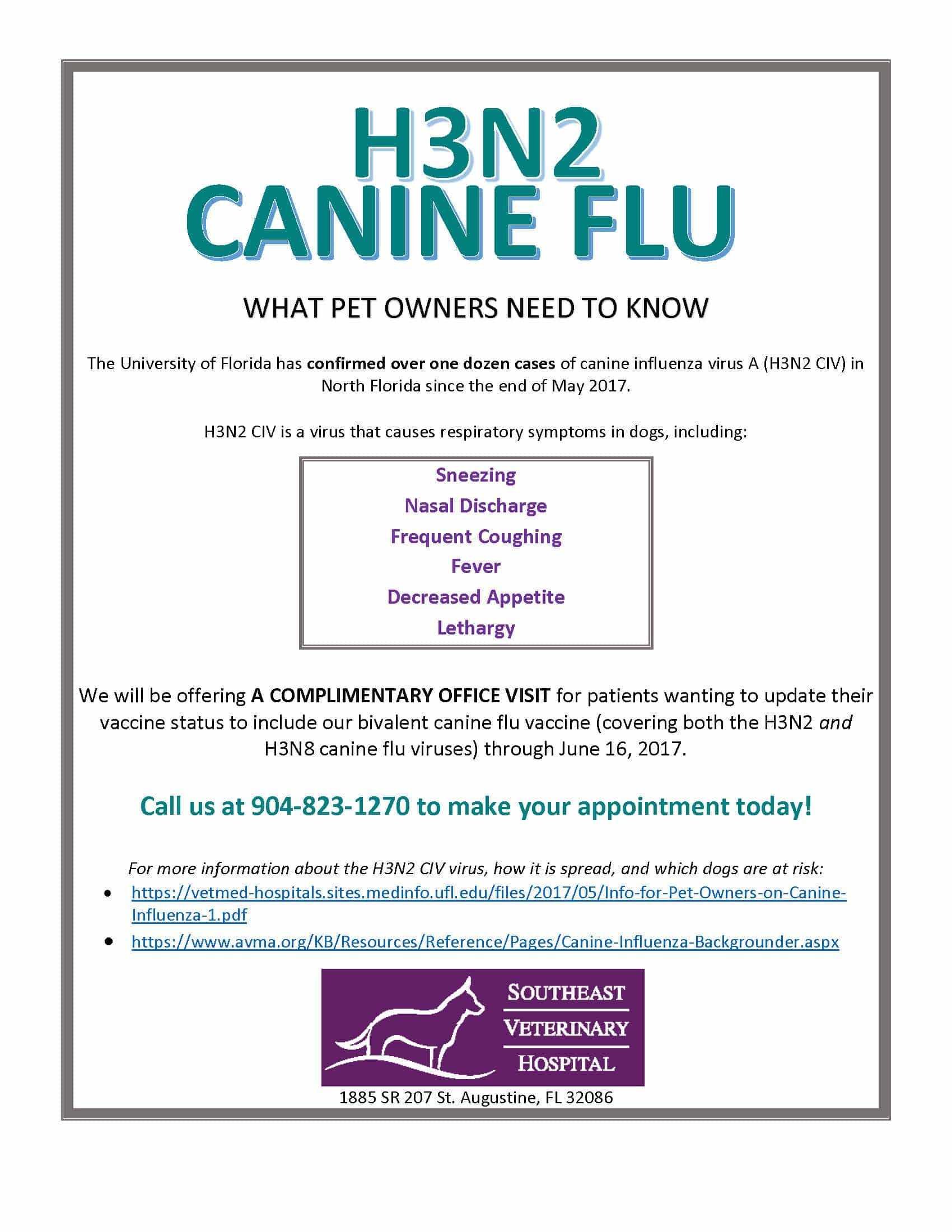 H3n2  >> H3n2 Canine Flu What Pet Owners Need To Know Southeast